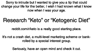 keto business card